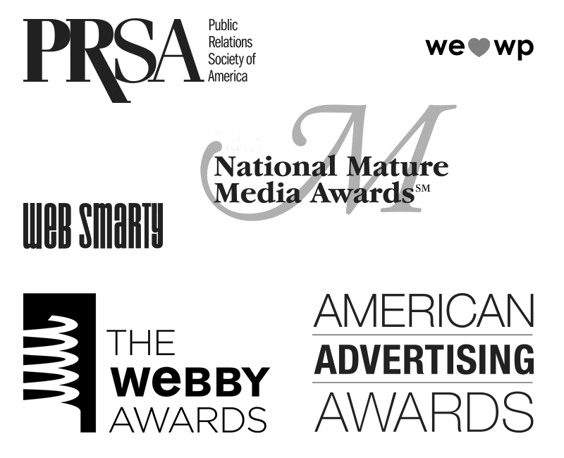 Various awards logos